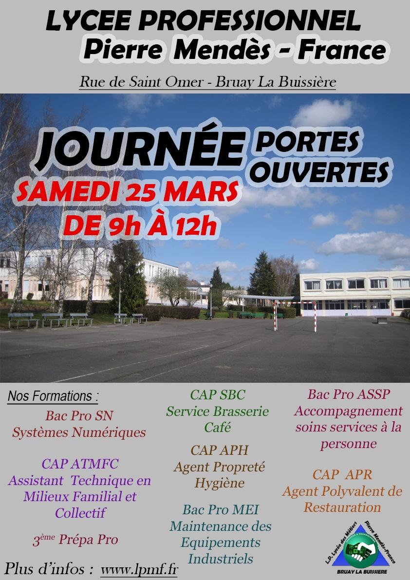 Portes ouvertes 2017 lyc e professionel pierre mend s france for Porte ouverte patrouille de france salon